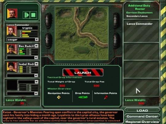 MechWarrior 4: Mercenaries cheat