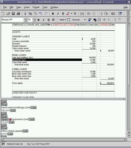 Corel WordPerfect 8 for Linux
