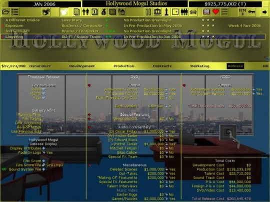 Hollywood Mogul 3 - demo