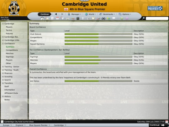 Football Manager 2009 patch (9.1.0)