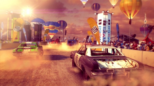 Dirt Showdown - képeken a roncs derbi
