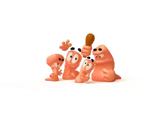 Worms Revolution - karakterek