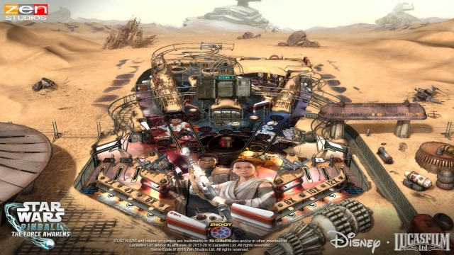 Star Wars Pinball: The Force Awakens csomag érkezik