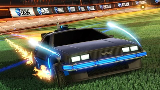 DeLorean a Rocket League-ben